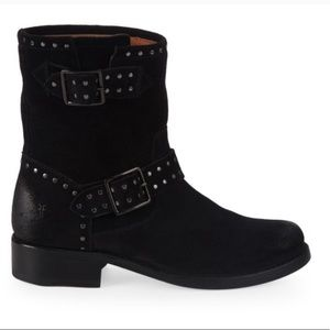 NEW FRYE Vicky Stud Engineer Leather Moto Boots